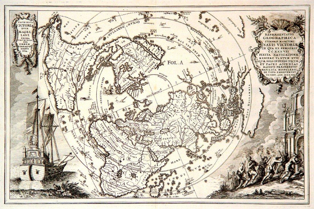 18: Repraesentatio Geographica Iteneris Maritimi Navis
