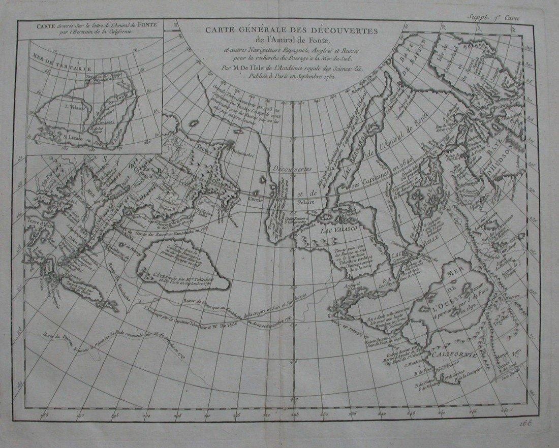 20: Carte Generale des Decouvertes de l'Amiral de Fonte