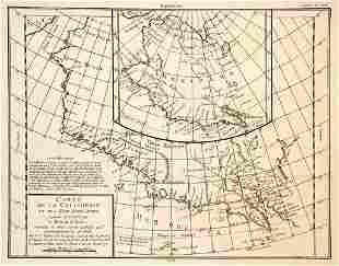 Carte de la Californie et des Pays Nord-ouest separ