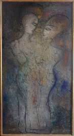 Jamali Original Fresco Painting 59x110