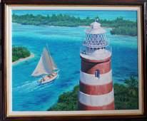 Original Howard Schafer, Oil on Canvas, 30x25, Signed