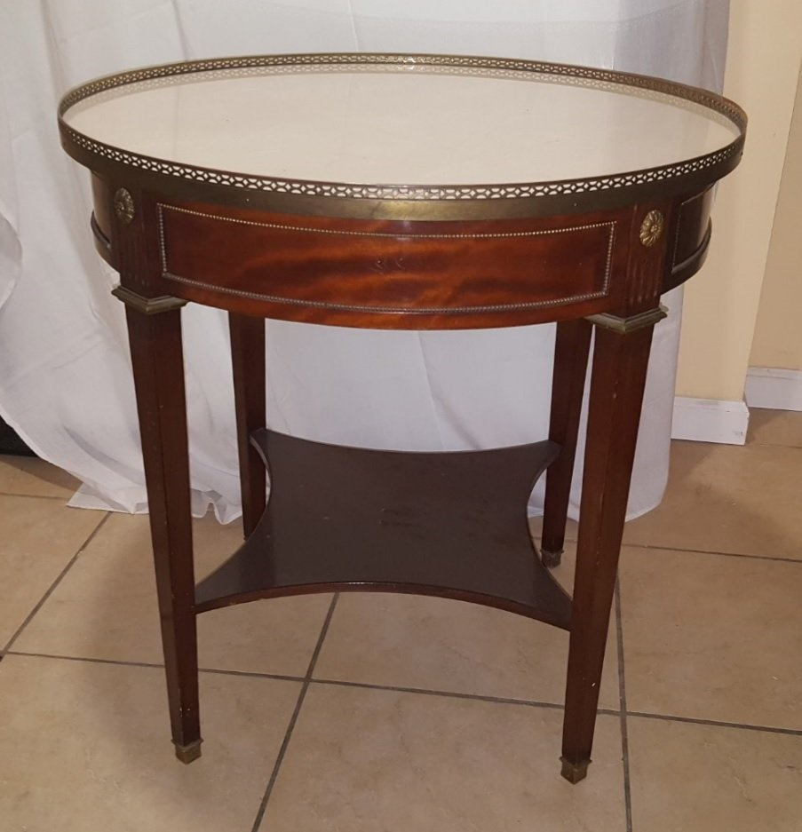 Antique French rosewood marble top table