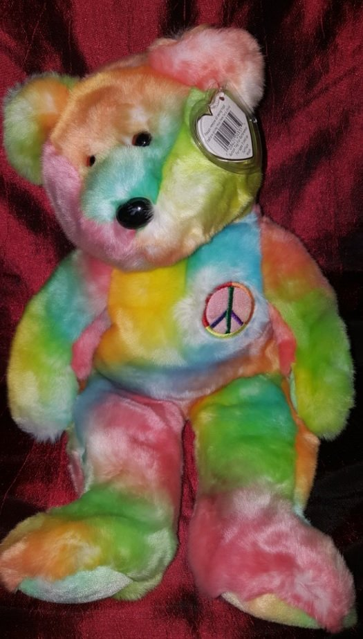 Collectible TY 1999 (multicolor rainbow) 14 inches