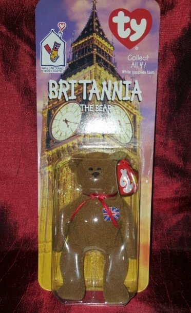 Collectible sealed TY Britannia the Bear 1997 (brown)