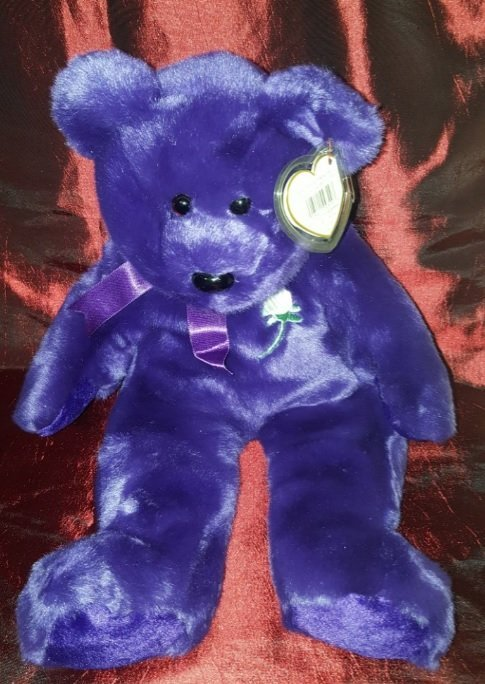 Collectible TY Diana, Princess 1998 (purple) 14 inches