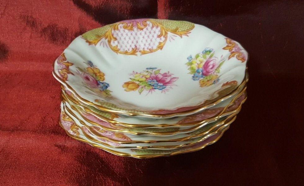 Roslyn Fine Bone, 6 porcelain plates