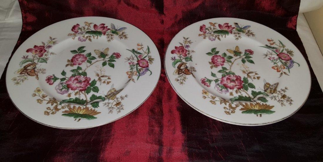 WEDGWOOD, set of 2 porcelain large plates,