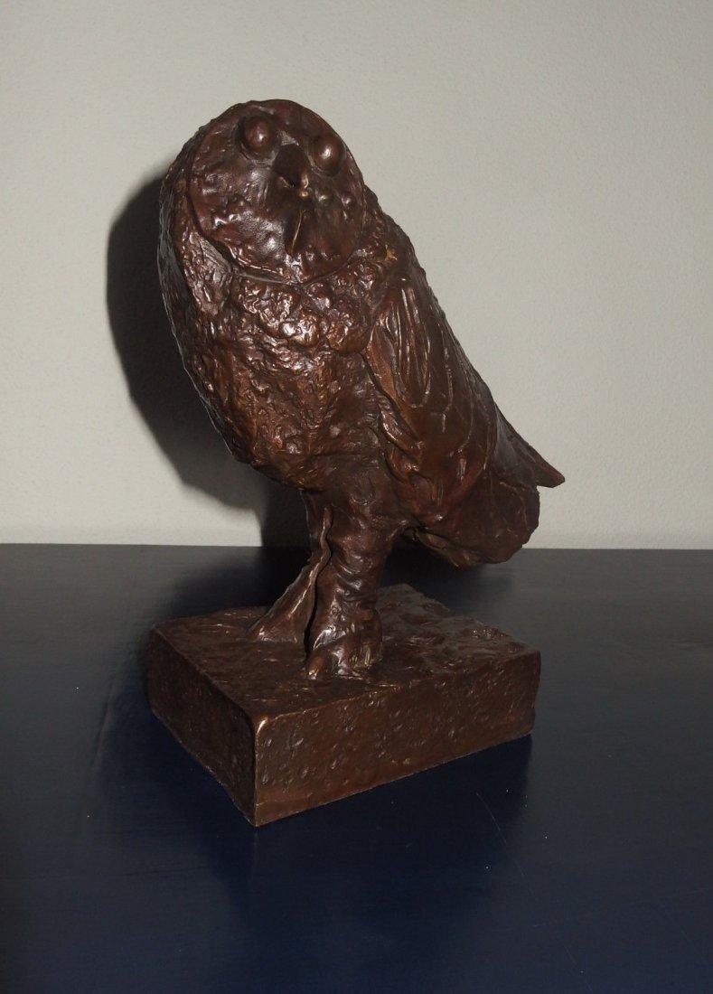 BRONZE Sculpture OWL, Signed Picasso'