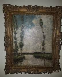 Sisley signed oil on canvas painting