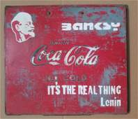 Banksy Its the real think, LENIN Coca Cola