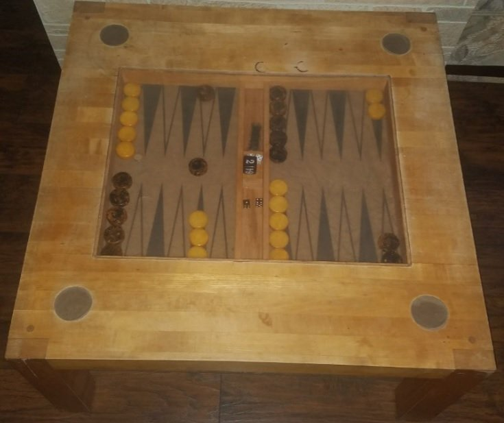 Willy Rizzo unique vintage backgammon table around 1960