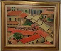 John Marin oil on canvas panel board