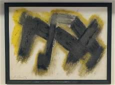 Robert Motherwell  oil on paper