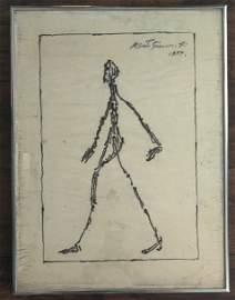 Alberto Giacometti ink on paper