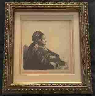 Rembrandt Van Rijn (1606-1669) etching