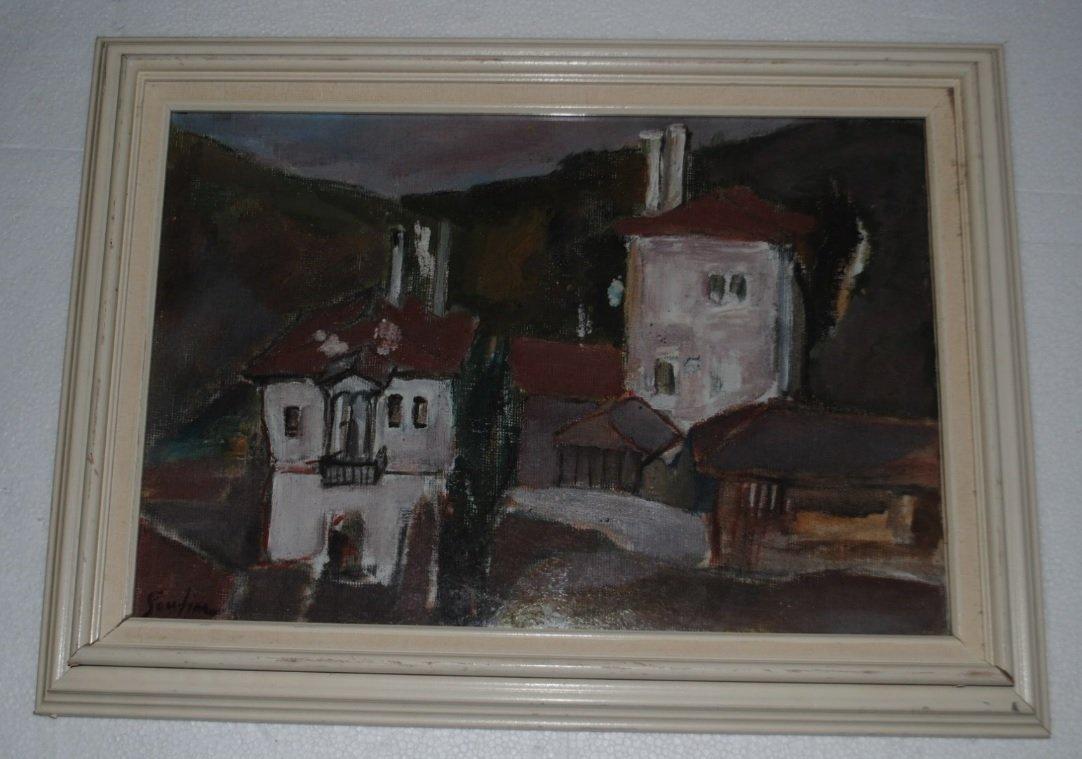 Chaim Soutine, The village, cca. 1920