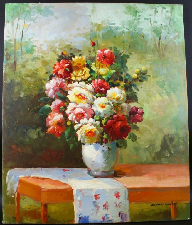 Octave Guilbert 20th C, Still Life, Flowers