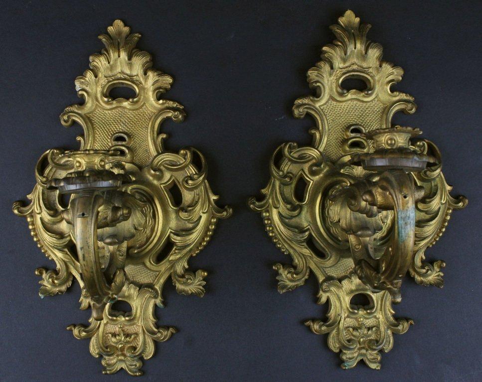 Sconces, Pair Bronze, C. 1900
