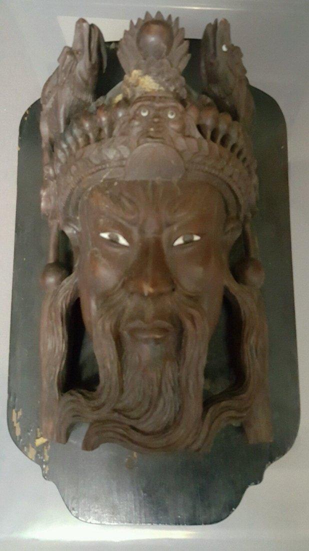 Old Asian wooden sculpture