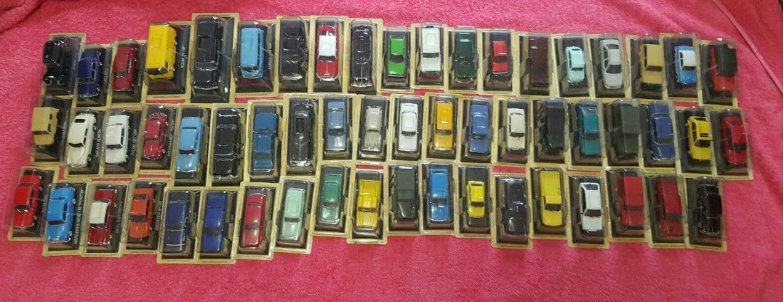Collectible miniature cars lot of 58 pcs