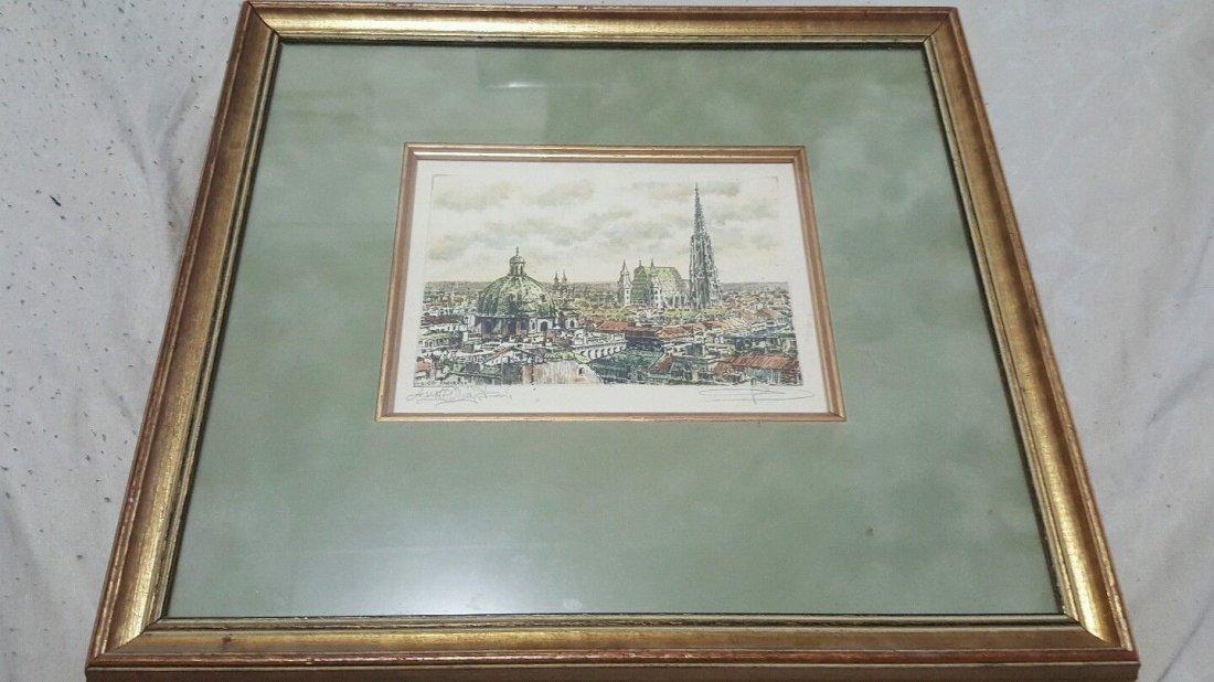Gerson Kovacs radierung etching