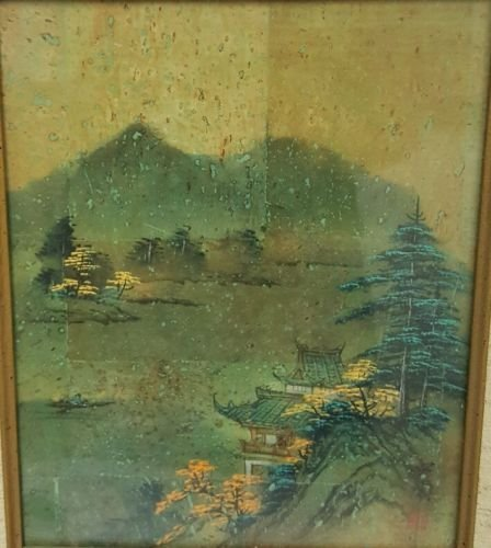 Chinese painting on cork, signed - 3