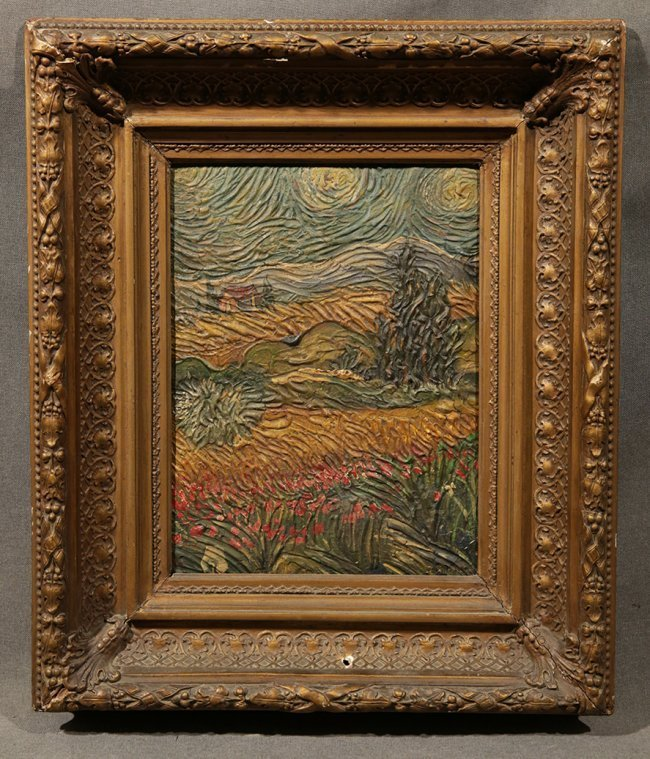 Vincent Van Gogh, Cypress with puppies field
