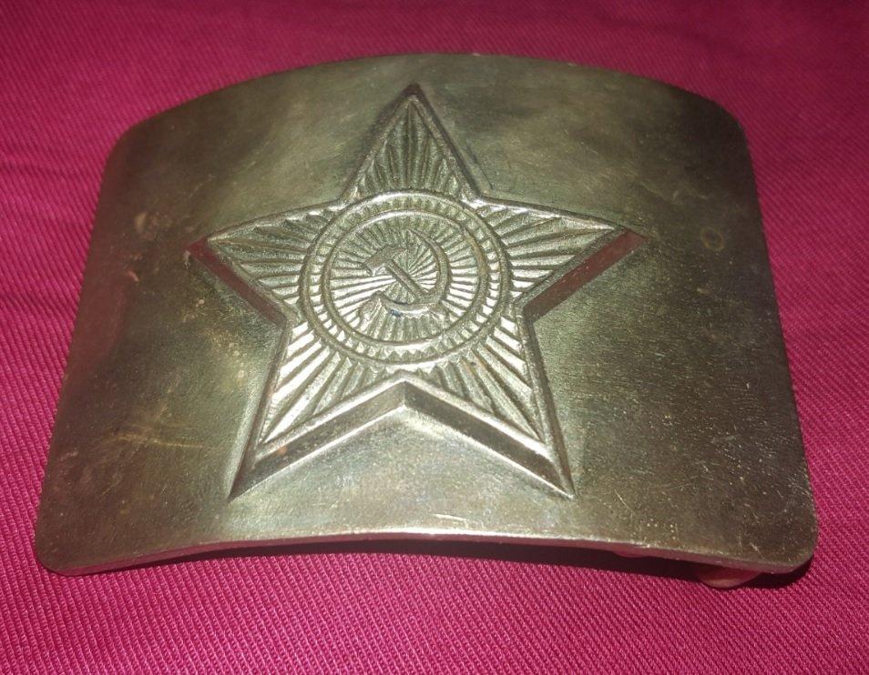 Vintage URSS buckle, communist sign  hammer and sickle