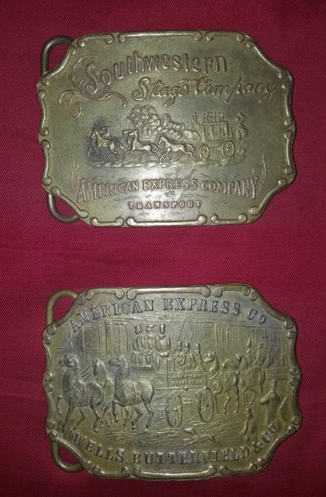 Lot of 2 authentic Vintage Bronze Tiffany buckles