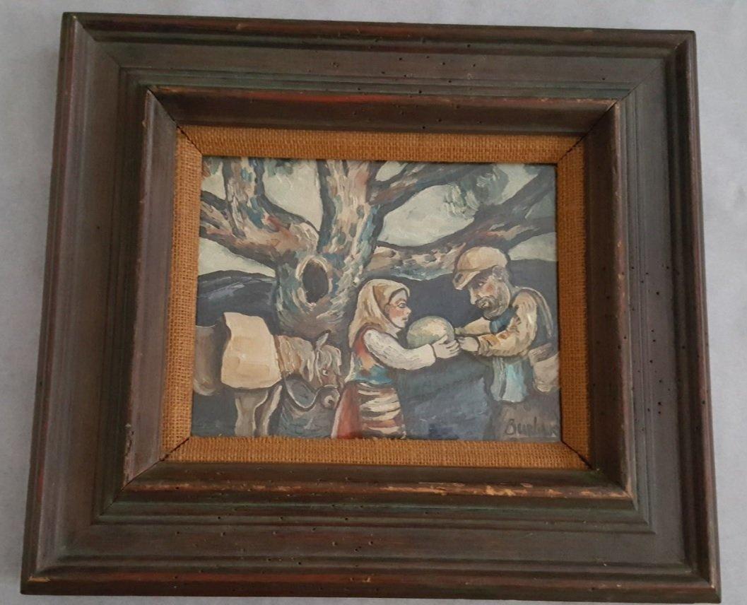 David Burliuk , oil on canvas - 2