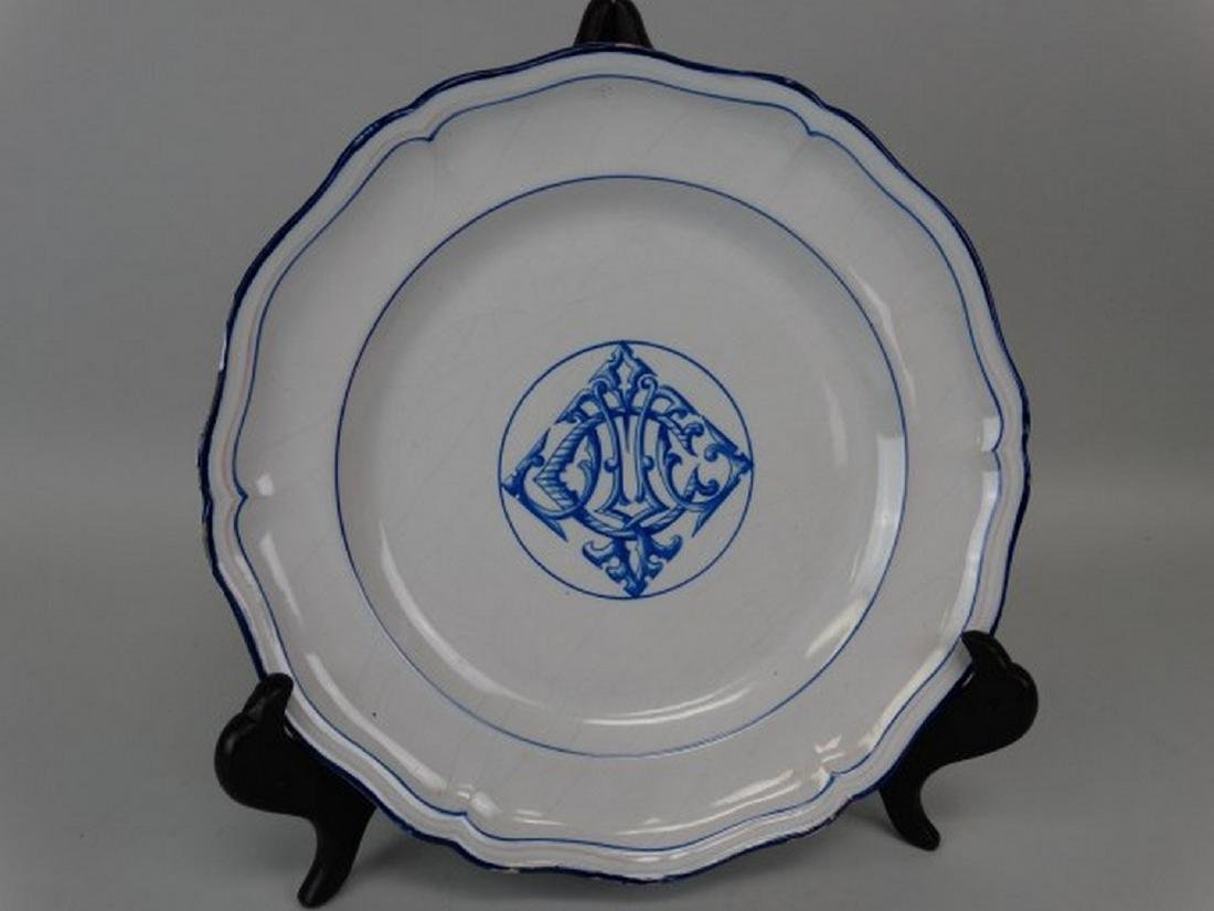 Emile Galle Faience Plate
