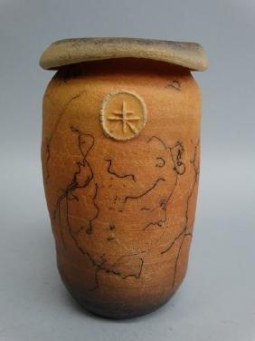Horsehair Pottery Vase