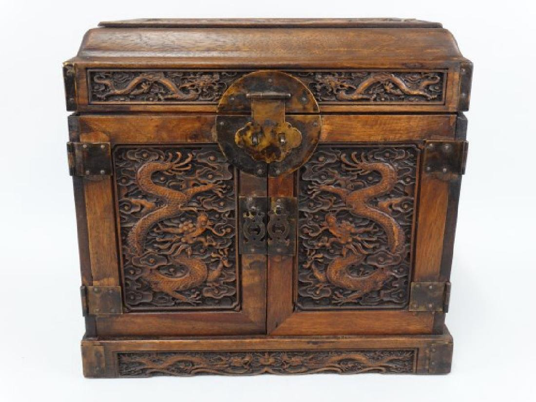 Well Carved Chinese Fitted Cabinet 1920's-30's