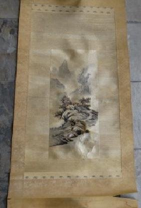 Japanese Embroidery Scroll