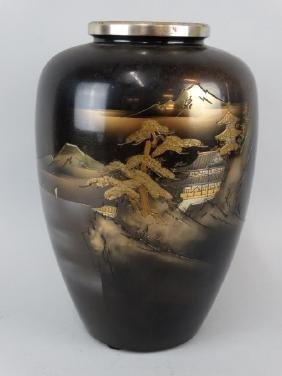 Japanese Signed Mixed Metal Vase