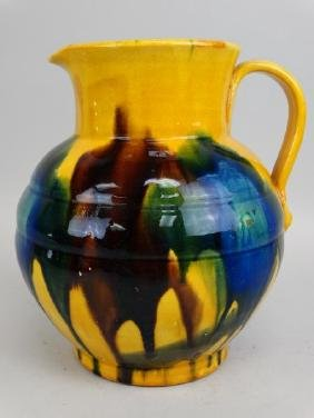 Glazed Pottery Pitcher