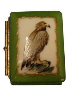 Antique Hand Painted Limoges Box - Falcon
