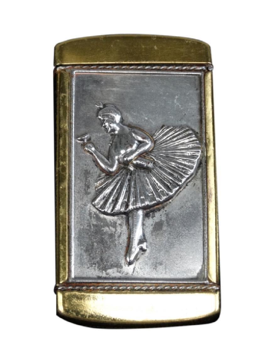Brass Ballerina & Nude Match Safe