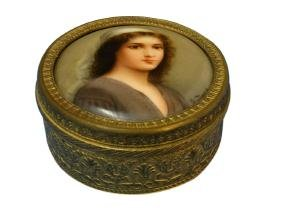 Jewelry Box w/ Portrait Miniature Lid - Wagner