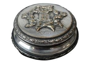 French Silver Plated Continental Pillbox