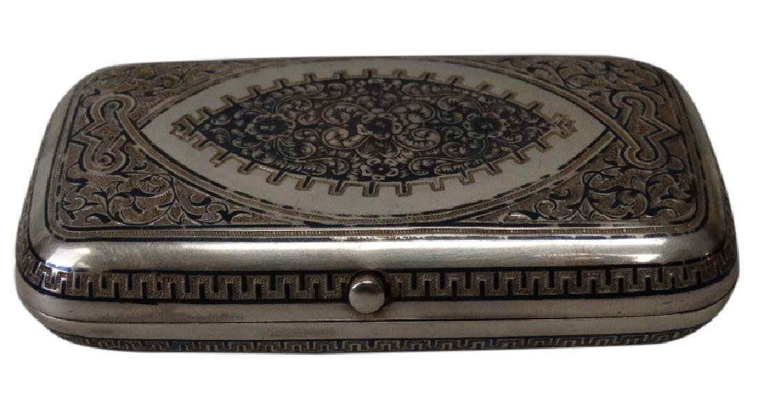 Russian Nielo & Sterling Cigarette Case c.1882