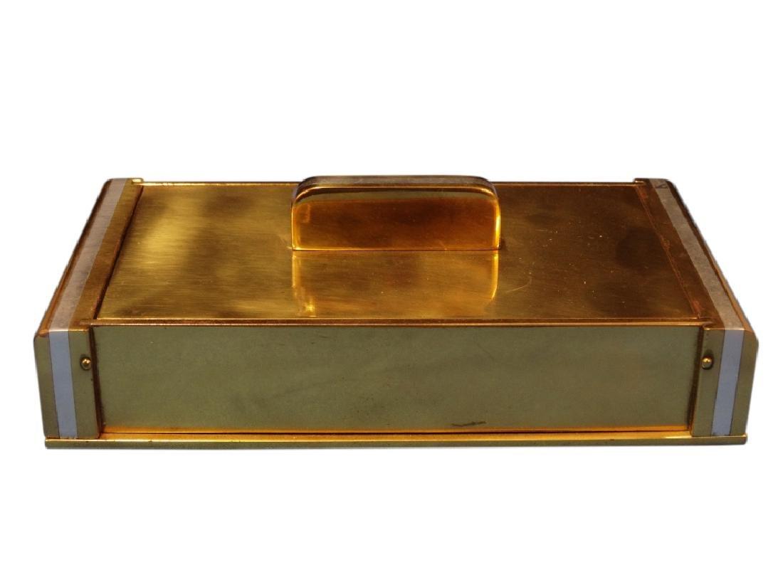 Art Deco Brass Cigarette Box