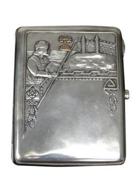 Russian Art Deco Sterling Cigarette Case