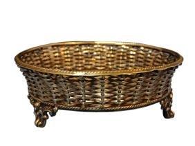 Silver Plated Basket Weave Wine Bottle Holder