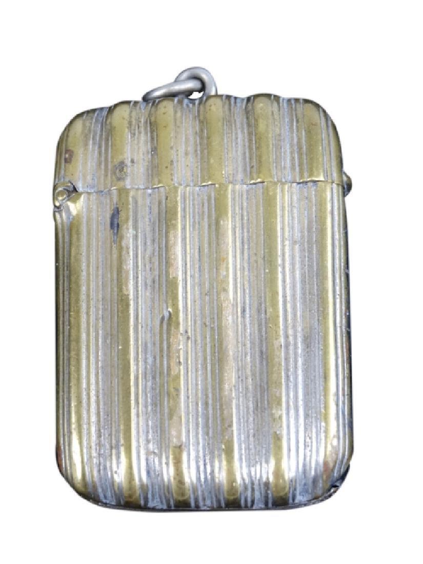 Ornate Vesta Brass Match Safe