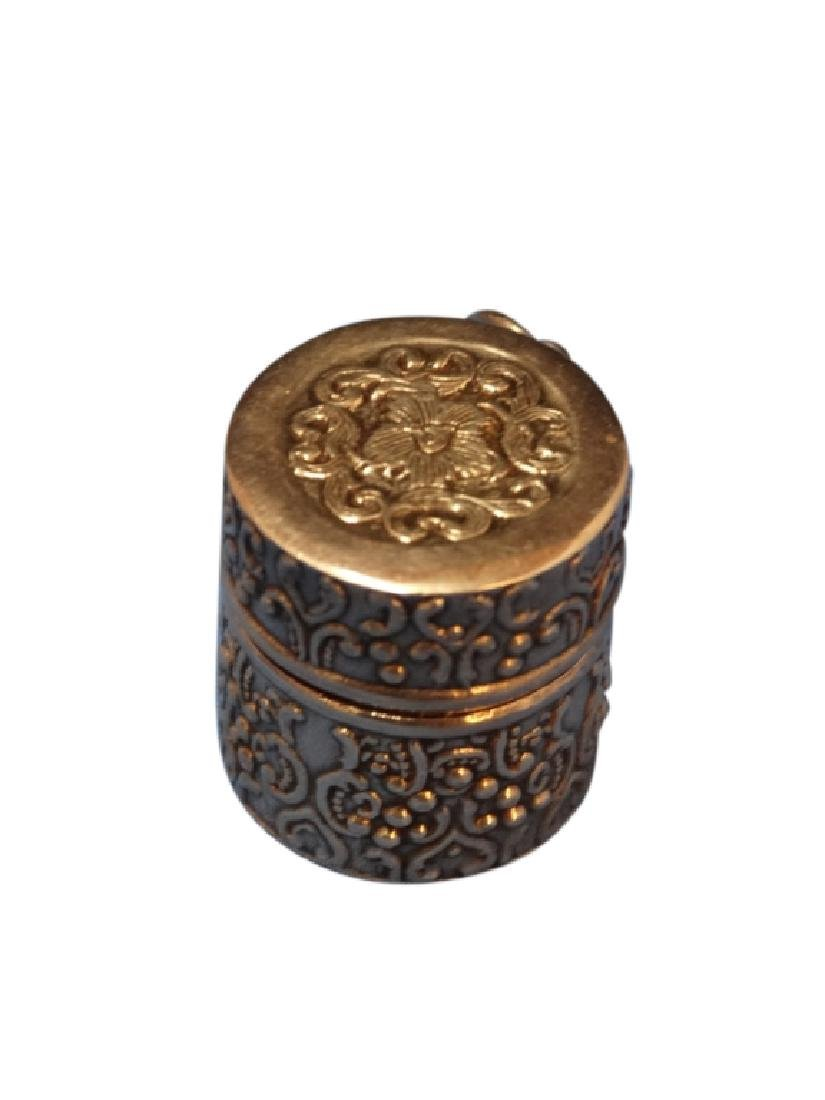 Sterling Silver Embossed Thimble Case