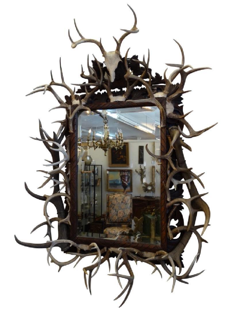 Belgium Style Horn Adorned Mirror