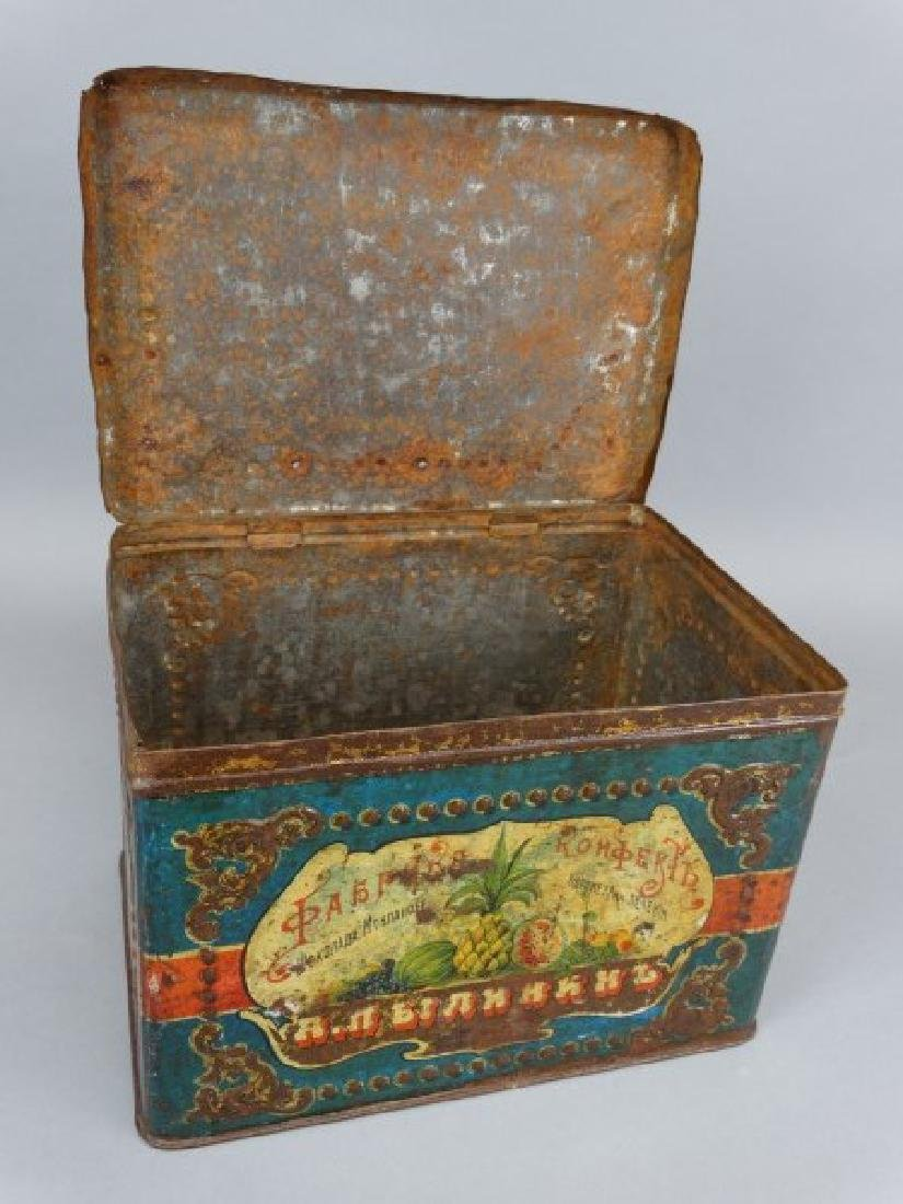 Antique Russian Biscuit Tin - 4
