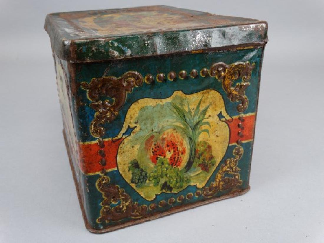 Antique Russian Biscuit Tin - 5
