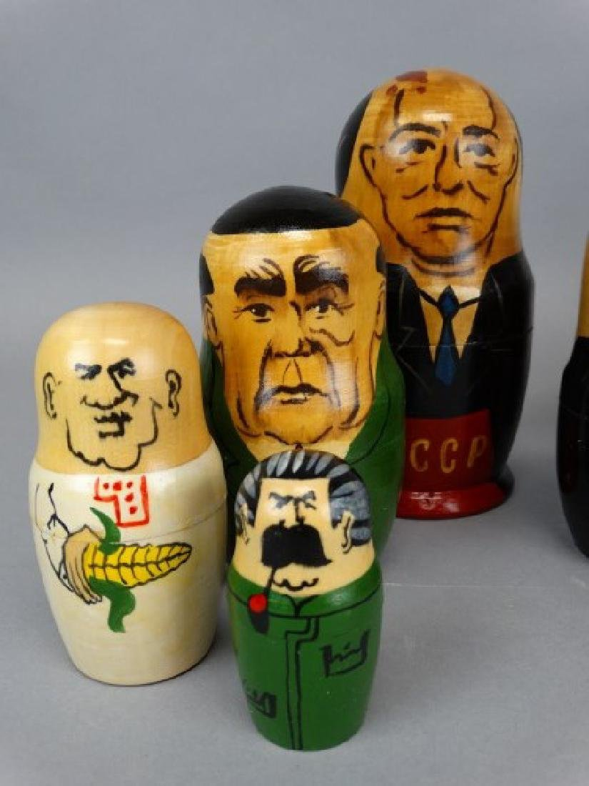 Lot of 3 Russian Political Nesting Doll Sets - 4